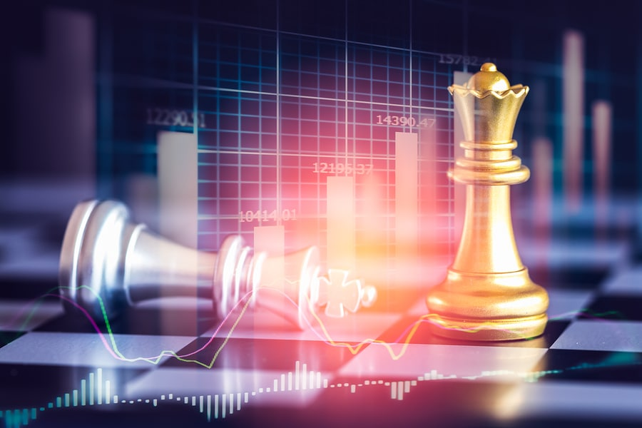business bankruptcy chess concept