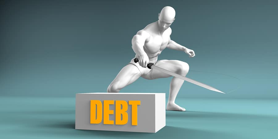 bigstock Cutting Debt and Cut or Reduce