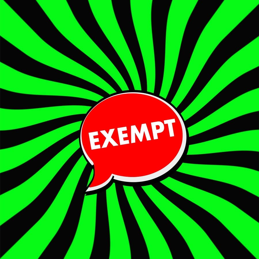 exempt sign bankruptcy