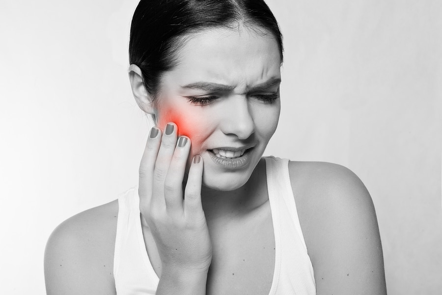 pain shown on face from an injury