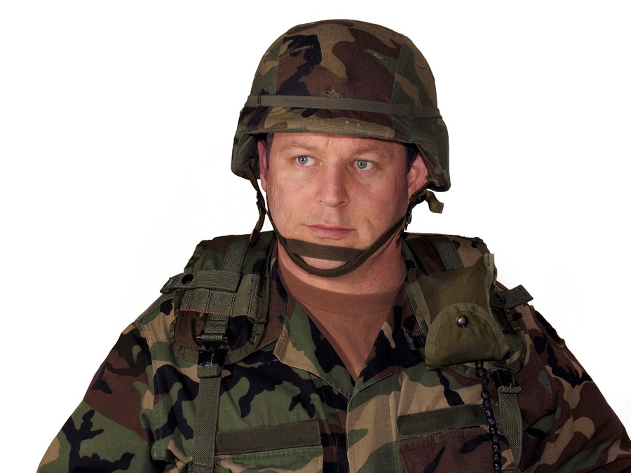 bigstock American Soldier On White