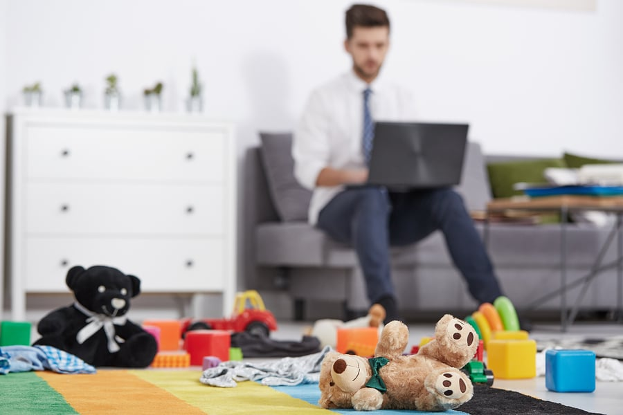 father children toys working