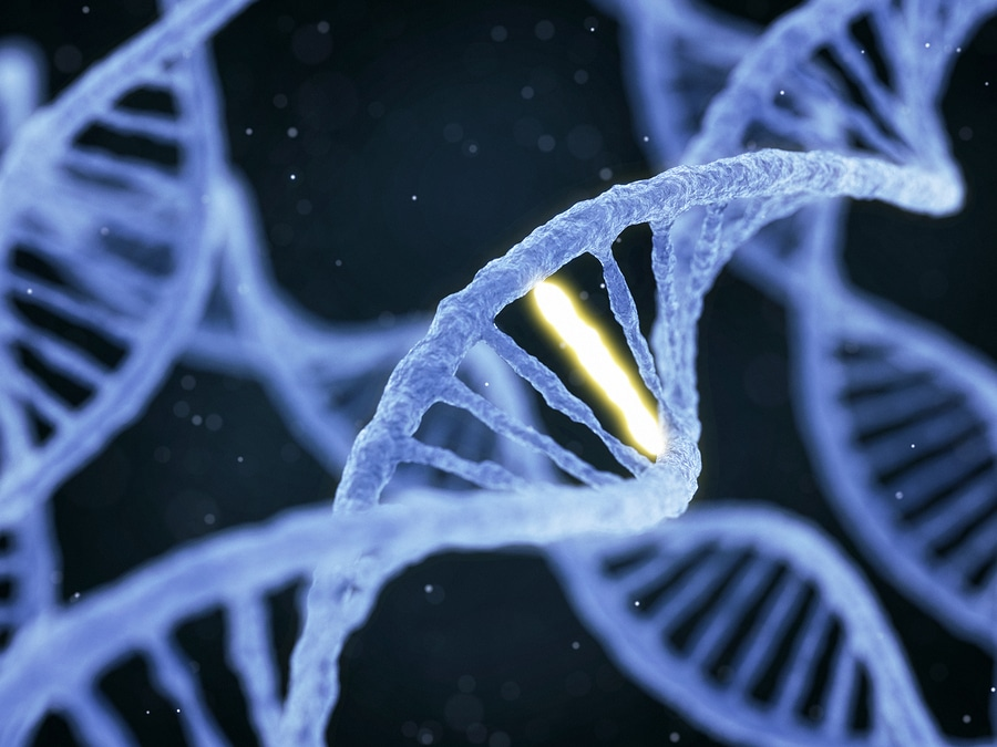 bigstock Dna With Unique Connection