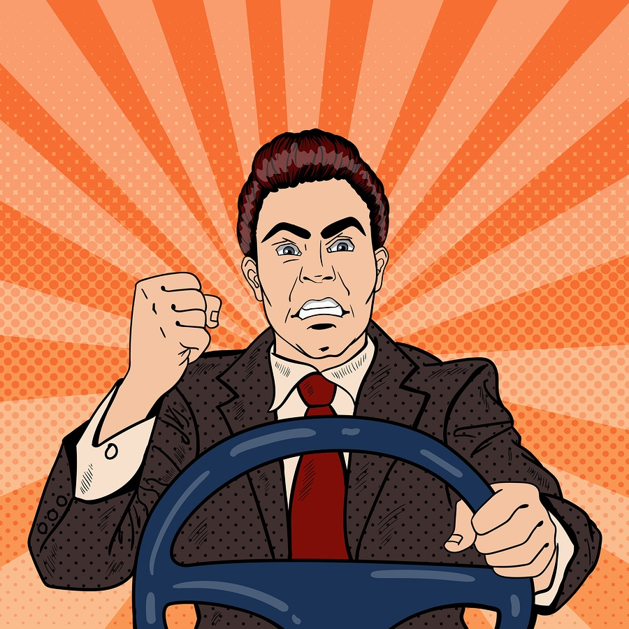 road rage driver