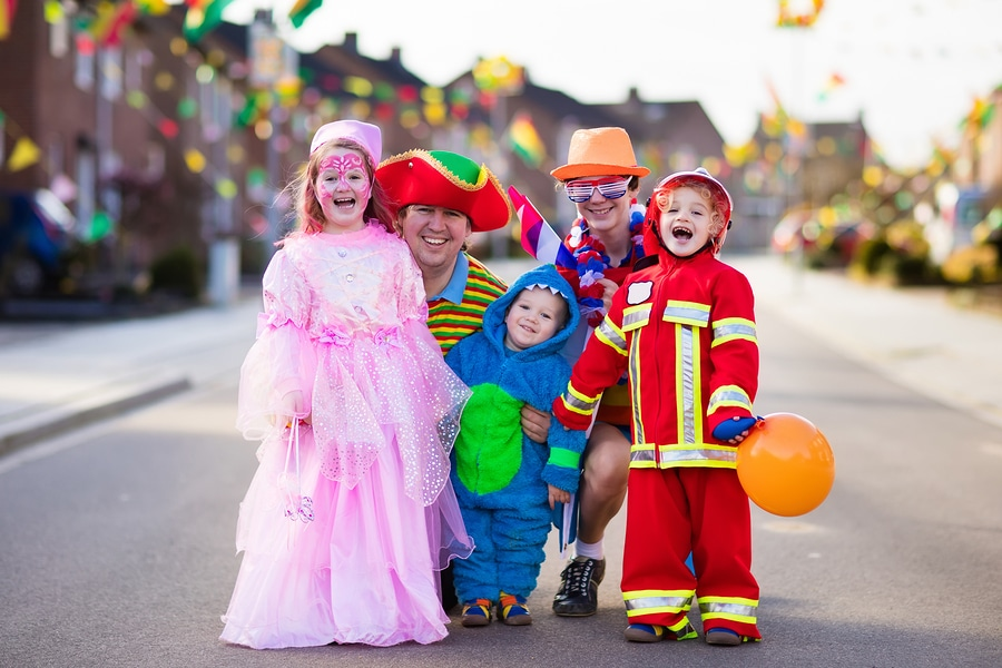 bigstock Kids And Parents On Halloween