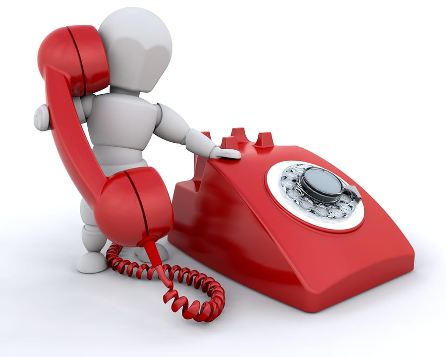 phone with debt collector concept