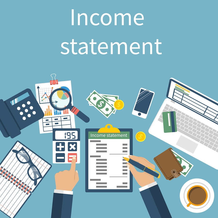 bigstock Income Statement Accounting