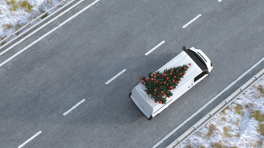 christmas tree on car hazard