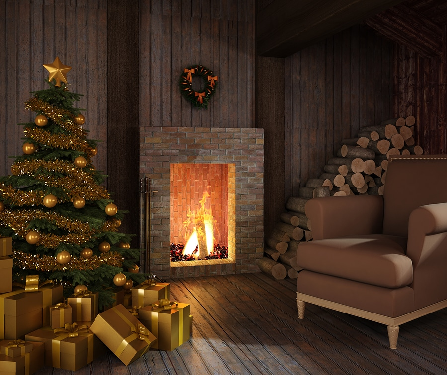 bigstock Rustic Hut s Fireplace At Chr