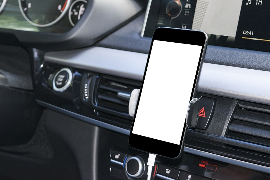 Driving with phone