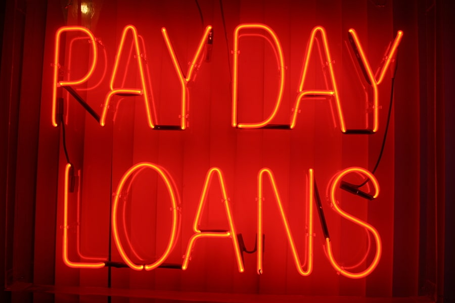 bigstock Neon Sign series payday loan