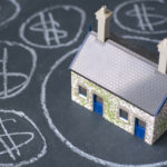 house and money dollar signs