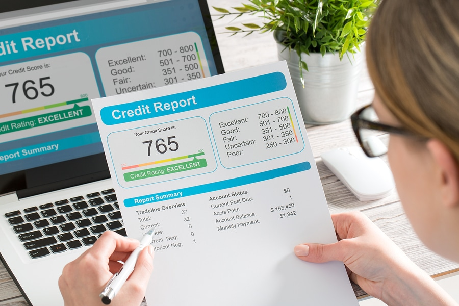 credit report and score
