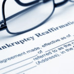 Bankruptcy Reaffirmation agreement closeup