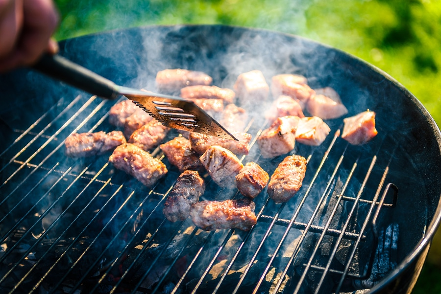 bigstock Grilling Delicious Variety Of