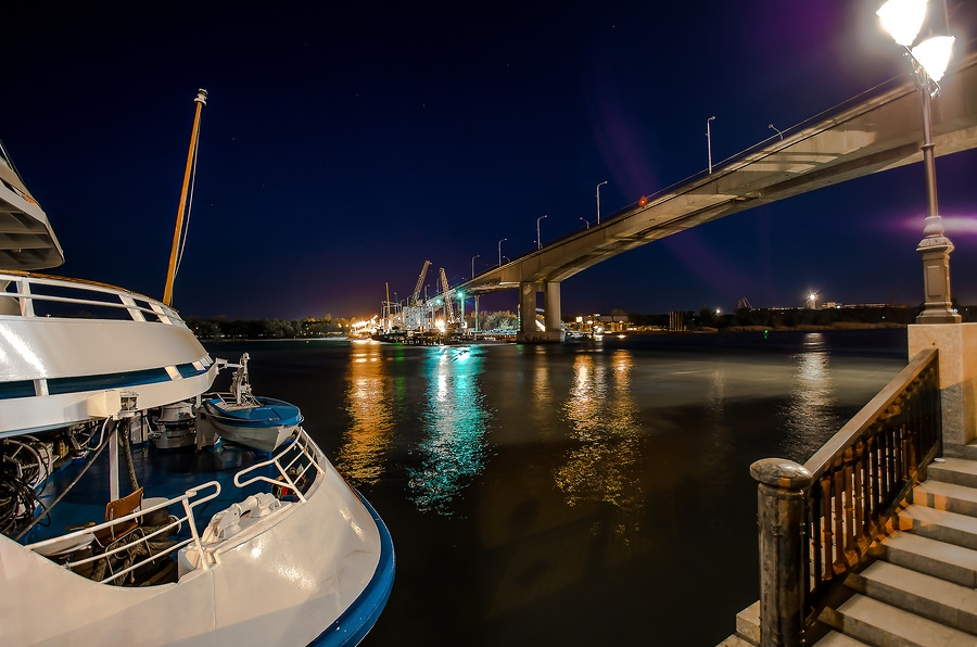 bigstock View Of The Bridge At Night Wi