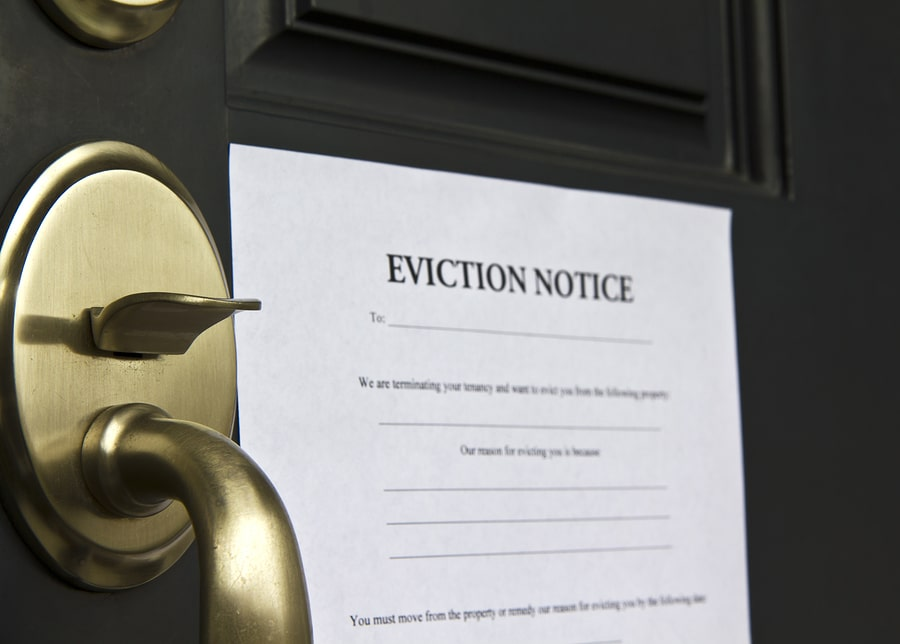 eviction on door