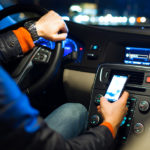 driving car with phone