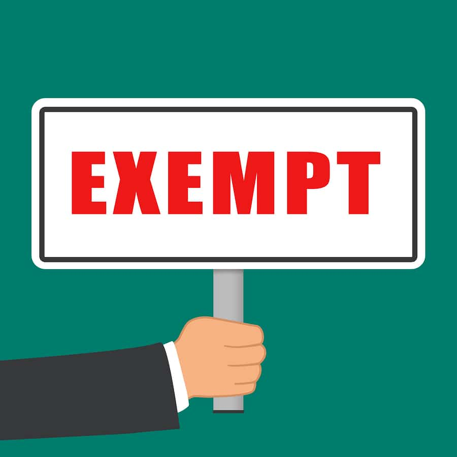 bigstock Illustration Of Exempt Word Si