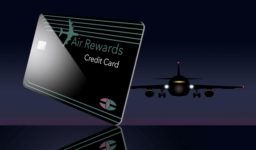 air miles card and plane