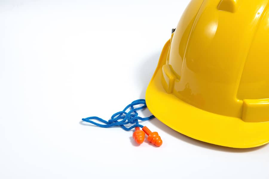earplugs hard hat construction