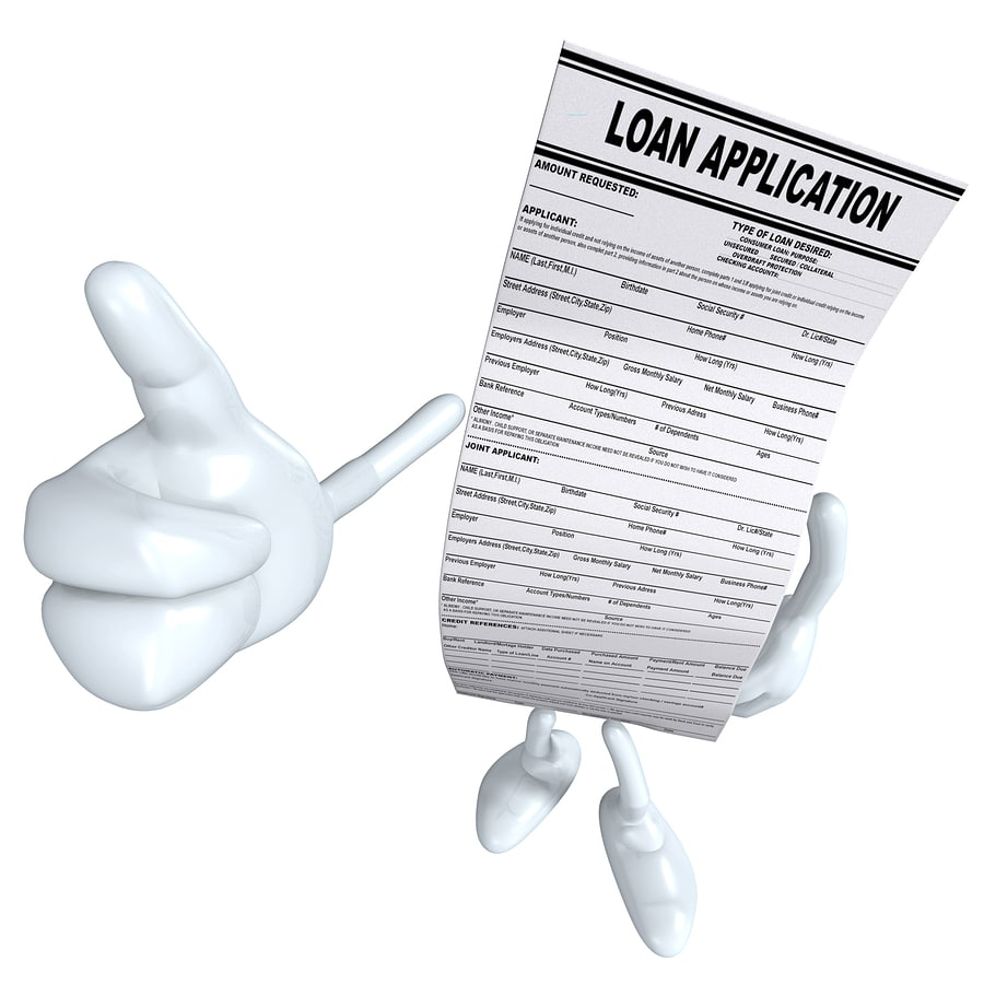 loan paper with thumbs up figure