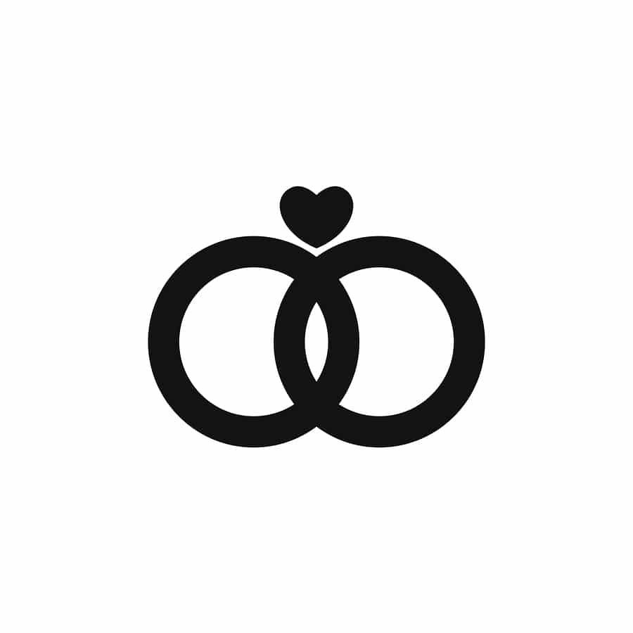 bigstock Marriage Rings Icon Isolated O