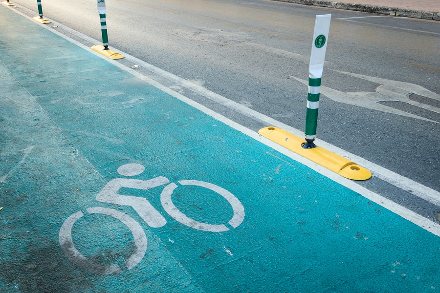 bigstock The Bicycle Lane Bicycle Sign