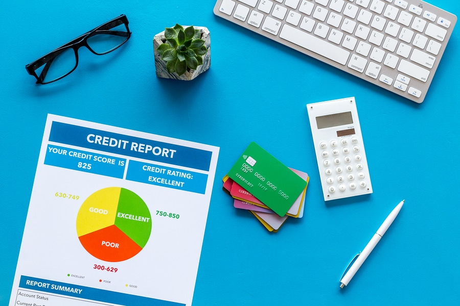bigstock Credit Report With Credit Card