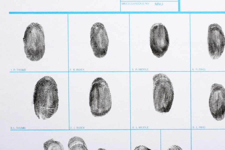 bigstock Fingerprint Record Sheet Top