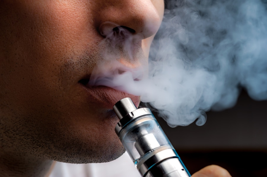 bigstock Close up Young Man Vaping E