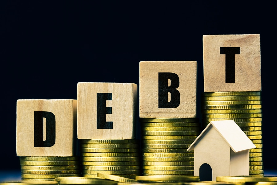 bigstock Conceptual About Property Debt