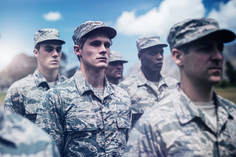 bigstock Group of military soldiers sta