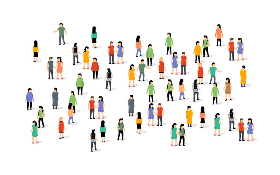 bigstock Vector People Group Crowd Soci