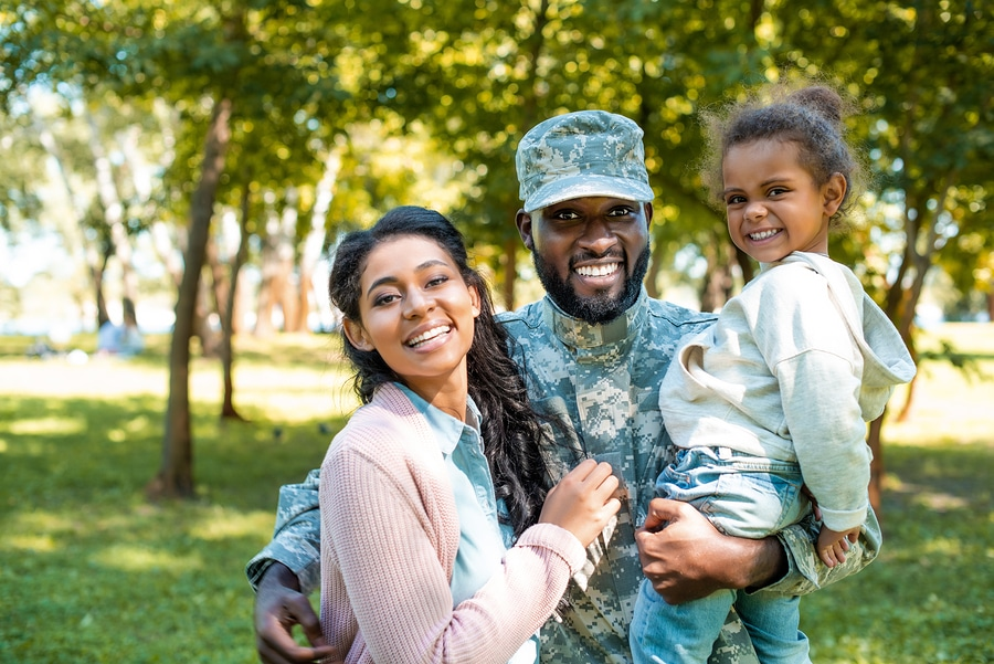 military father and children
