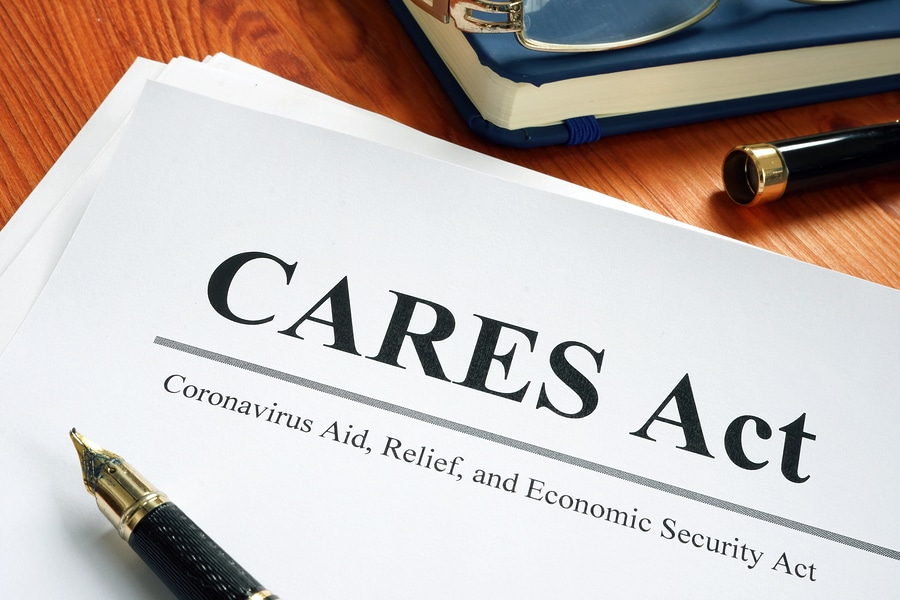 text CARES Act on paper